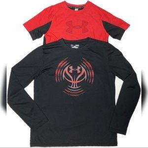 Under Armour signature logo Boy's DryFit T-Shirts